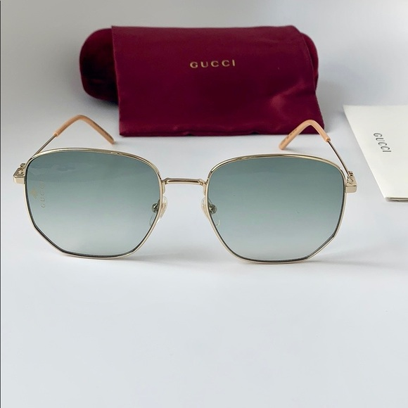 662b31911b Gucci Sunglasses GG0396 S 002 GOLD GREEN